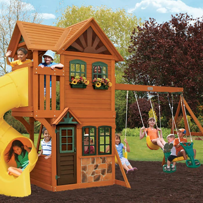 Boulder Station Swing Set Playset