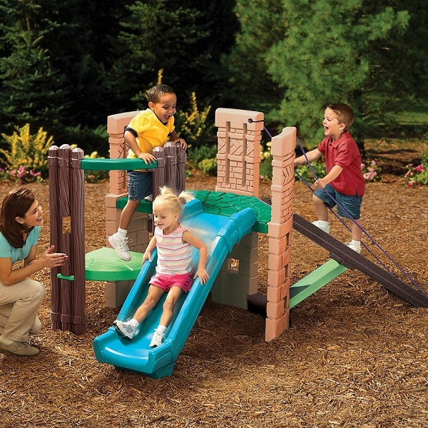 Little Tikes 2 in 1 castle playhouse climbing frame