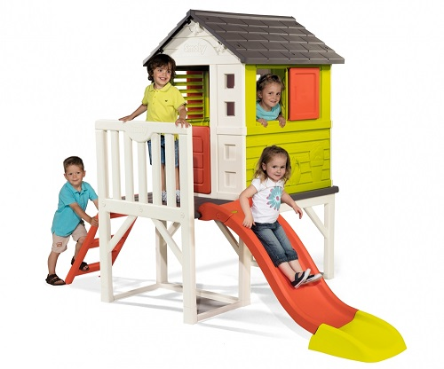 Smoby Kids Playhouse on Stilts with slide for 2 to 8 year old
