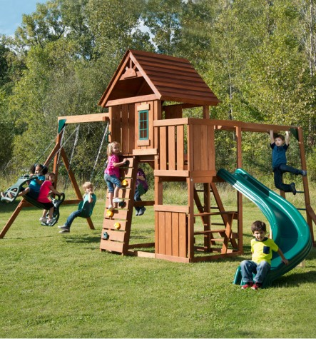 Swing-N-Slide PB 8272 Cedar Brook Play Set with Monkey Bars