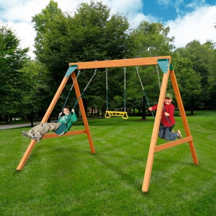 Swing-N-Slide Ranger wooden swing set